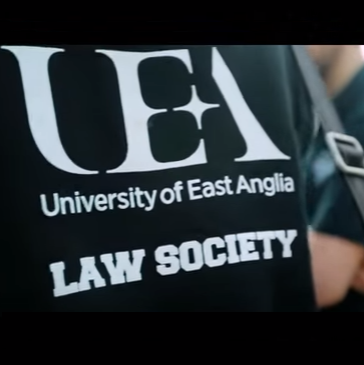 Student in a Law Society Hoodie