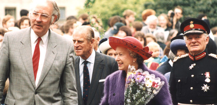 Prince Philip at UEA campus