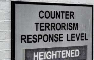 Counter terrorism sign on wall