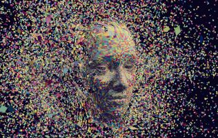 digitally rendered face