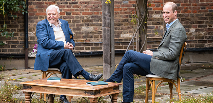 Sir David Attenborough and HRH Prince William