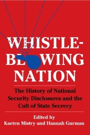 Whistleblowing Nation: The History of National Security Disclosures and the Cult of State Secrecy, edited by Kaeten Mistry and Hannah Gurman