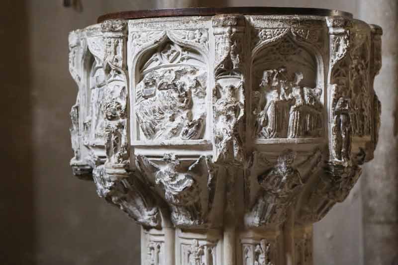 Font from St Mary in the Marsh