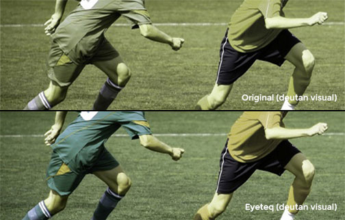 Image showing comparison of original image with Eyeteq applied