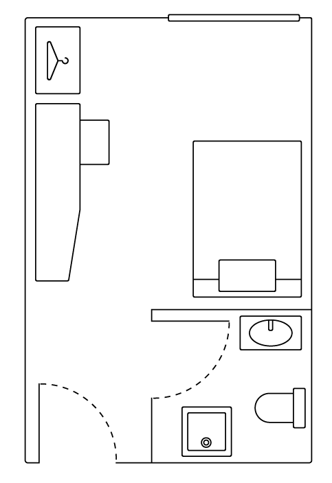 Ensuite Campus Plus Floorplan for room