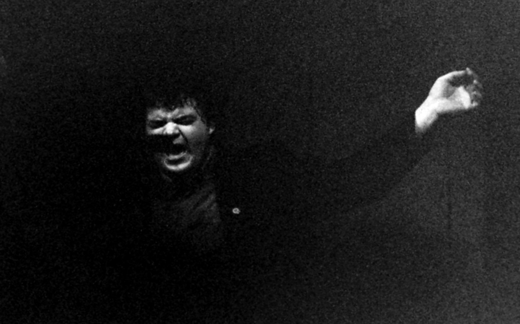 David Thomas from Pere Ubu at UEA in 1979