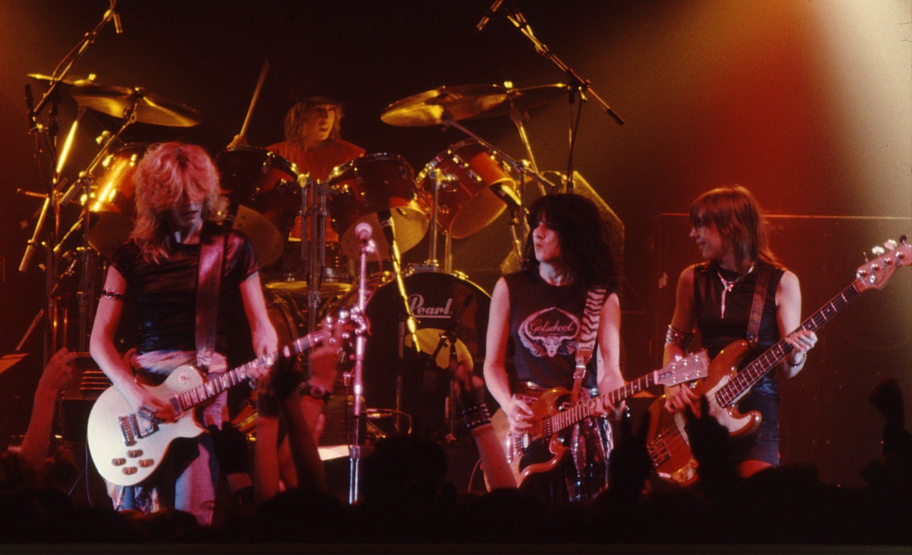Girlschool at uea in 1981