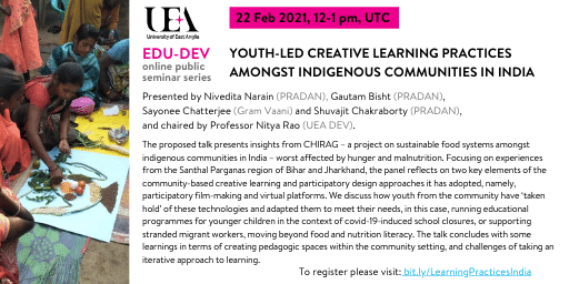 Youth-led creative learning practices amongst indigenous communities in India