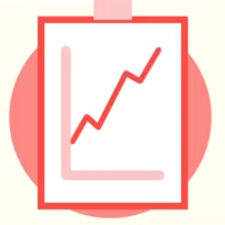 Red graph icon